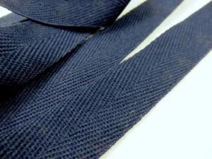 B600 Bomullsband 20 mm mörkblå