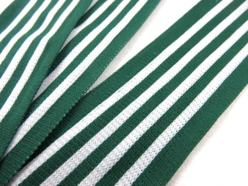 B732 Side Stripe Ribbon 42 mm green/white