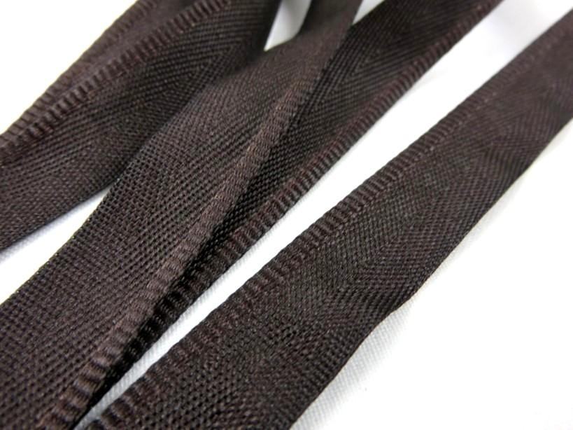 B900 Klackband 15 mm mörkbrun