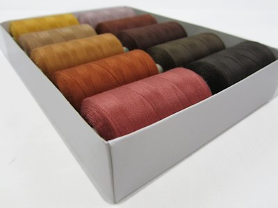 Thread Set brown (10 spools)