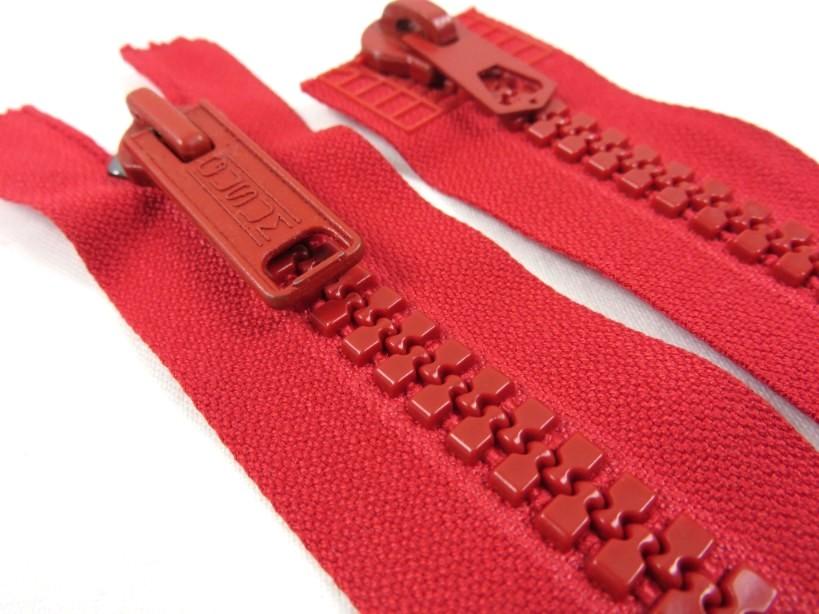 D002 Plastic Zipper 57 cm Gusum Two-way separating red