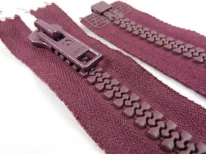 D004 Plastic Zipper 63 cm Opti One-way Separating plum
