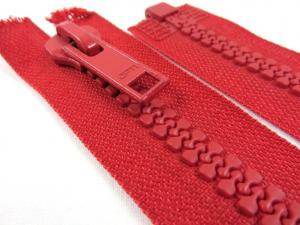 D005 Plastic Zipper 50 cm Opti One-way Separating red