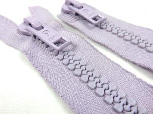 D008 Plastic Zipper 66 cm Opti Two-way separating light purple