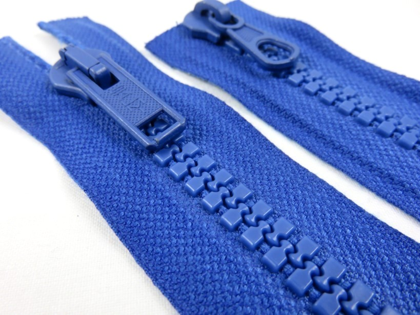 D009 Plastic Zipper 37 cm Two-way separating royal blue