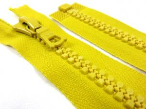 D011 Plastic Zipper 37 cm One-way Separating yellow
