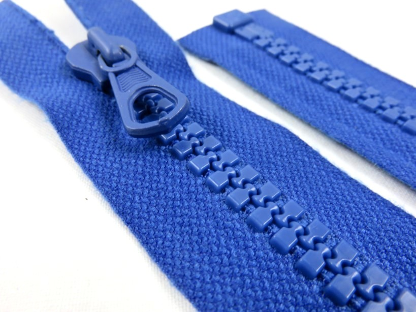 D012 Plastic Zipper 39 cm One-way Separating royal blue