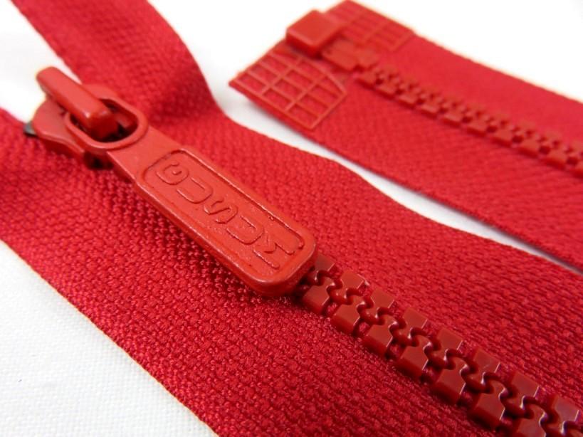 D042 Blixtlås 52 cm Gusum delrin delbar 6 mm röd