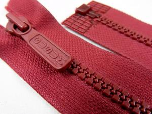 D042 Plastic Zipper 74 cm Gusum One-way Separating wine red