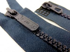 D043 Plastic Zipper 84 cm Two-way separating dark blue