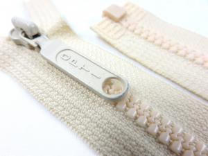D055 Plastic Zipper 45 cm Opti One-way Separating offwhite