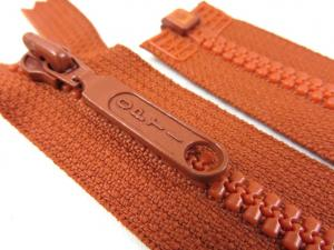D055 Plastic Zipper 25 cm Opti One-way Separating brown