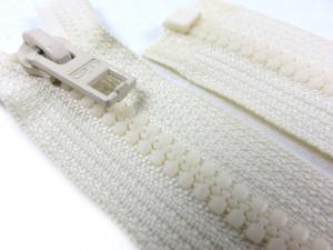 D057 Plastic Zipper 66 cm Opti One-way Separating offwhite