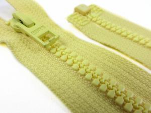 D057 Plastic Zipper 64 cm Opti One-way Separating light yellow
