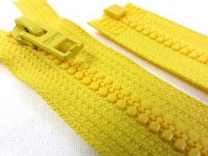 D057 Plastic Zipper 65 cm Opti One-way Separating yellow