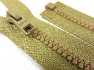 D057 Plastic Zipper 64 cm Opti One-way Separating brown
