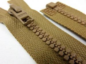 D057 Plastic Zipper 62 cm Opti One-way Separating brown