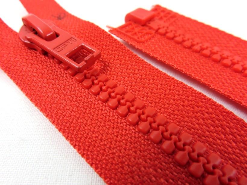 D057 Blixtlås 54 cm Opti delrin delbar 6 mm röd
