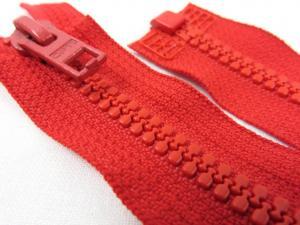 D057 Plastic Zipper 64 cm Opti One-way Separating red