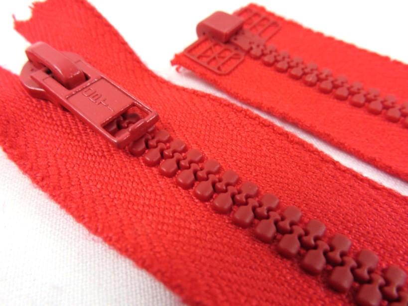 D057 Blixtlås 30 cm Opti delrin delbar 6 mm röd