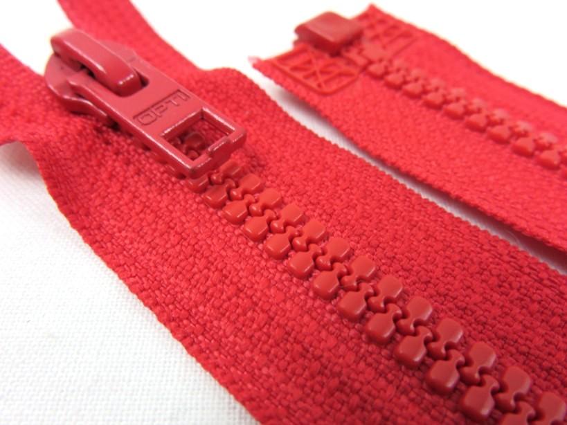 D057 Blixtlås 66 cm Opti delrin delbar 6 mm röd