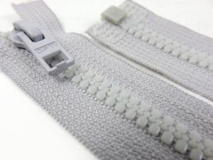 D057 Plastic Zipper 62 cm Opti One-way Separating light grey