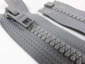 D057 Blixtlås 38 cm Opti delrin delbar 6 mm grå