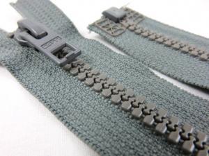 D057 Plastic Zipper 62 cm Opti One-way Separating grey