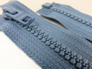 D057 Blixtlås 62 cm Opti delrin delbar 6 mm blå