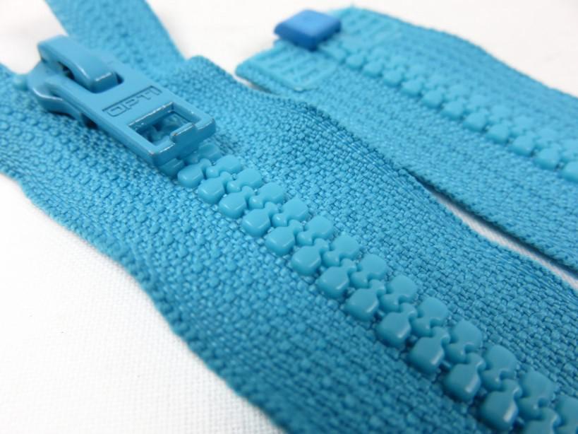 D057 Blixtlås 48 cm Opti delrin delbar 6 mm blå