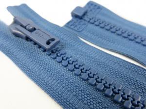 D057 Plastic Zipper 62 cm Opti One-way Separating blue