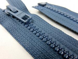 D057 Blixtlås 64 cm Opti delrin delbar 6 mm blå