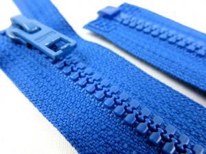D057 Plastic Zipper 64 cm Opti One-way Separating blue