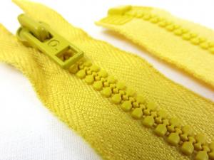 D058 Plastic Zipper 60 cm Opti One-way Separating yellow