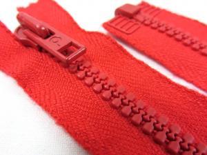 D058 Blixtlås 20 cm Opti delrin delbar 6 mm röd