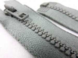 D058 Plastic Zipper 56 cm Opti One-way Separating light green