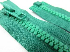 D058 Plastic Zipper 58 cm Opti One-way Separating green