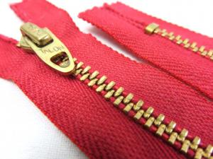 D063 Metal Zipper 15 cm Closed End red
