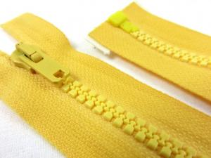 D066 Plastic Zipper 56 cm Salmi One-way Separating yellow