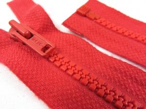 D066 Plastic Zipper 106 cm Salmi One-way Separating red