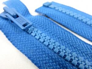 D066 Plastic Zipper 60 cm Salmi One-way Separating blue