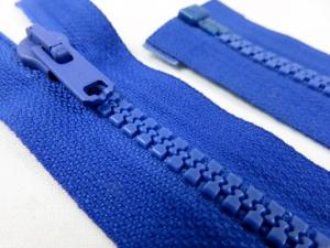 D066 Plastic Zipper 56 cm Salmi One-way Separating blue