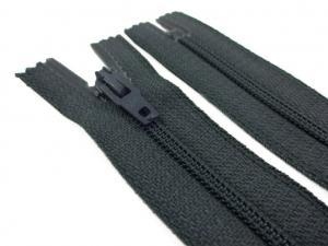 D072 Opti Coil Zipper 15 cm Closed End dark grey