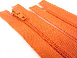 D072 Blixtlås 18 cm Opti 4 mm spiral ej delbar orange