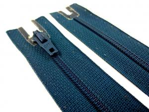 D072 Opti Coil Zipper 12 cm Closed End dark blue green
