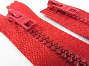 D093 Blixtlås 65 cm delrin 5 mm tvåväg röd