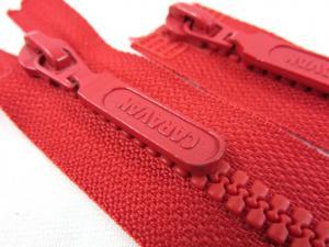 D094 Blixtlås 62 cm delrin 5 mm tvåväg röd