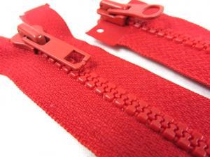 D095 Blixtlås 40 cm delrin 5 mm tvåväg röd