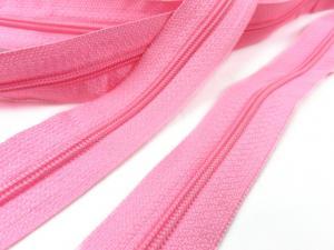 D100 Blixtlås metervara 4 mm rosa