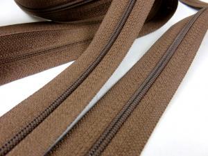 D100 Blixtlås metervara 4 mm mörkbrun